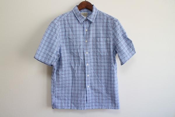 エルエルビーン 吸水速乾チェック半袖シャツ