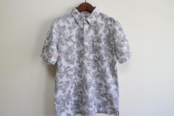 アダバット 花柄刺繍半袖ポロシャツ
