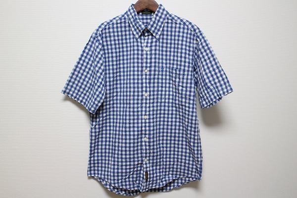 ティンバーランド 吸水速乾半袖チェックシャツ