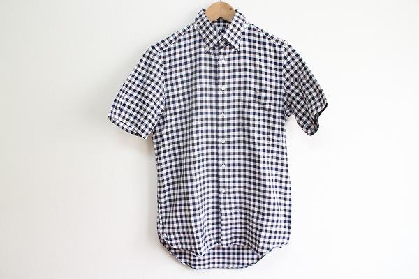 ユニバーサルランゲージ コットンチェック半袖シャツ