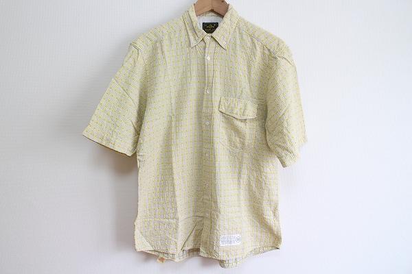 リプレイ コットンチェック半袖シャツ