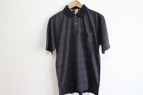 バーバリーロンドン コットンチェック半袖ポロシャツ