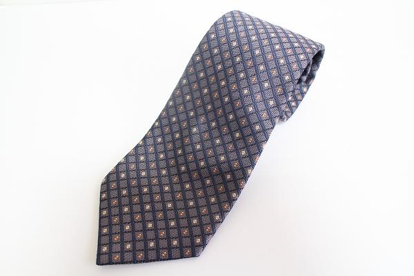 バーバリーロンドン 刺繍シルクネクタイ