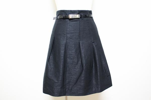 ナラカミーチェ ベルト付きプリーツスカート