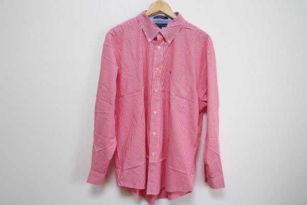 トミーヒルフィガー 刺繍チェック長袖シャツ