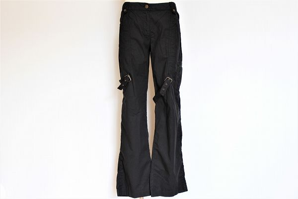 ジーンズレコパン ベルト装飾パンツ