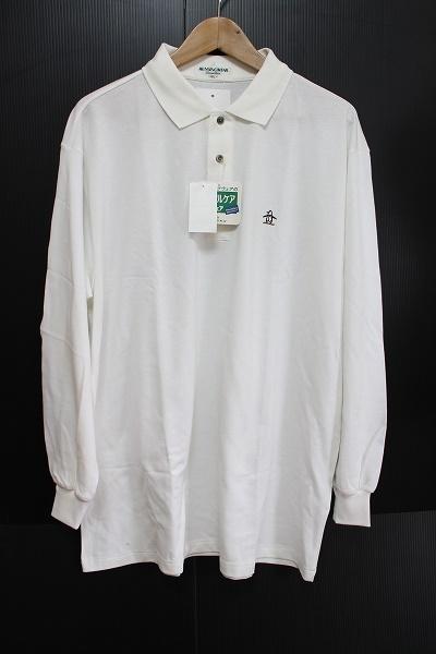 マンシングウェア 刺繍長袖ポロシャツ