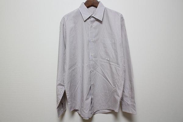 パパス 長袖ストライプワイシャツ