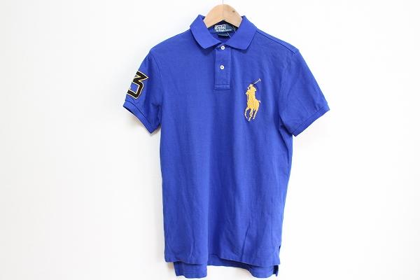ポロラルフローレン ロゴ刺繍半袖ポロシャツ