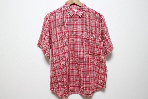 パパス チェック半袖シャツ