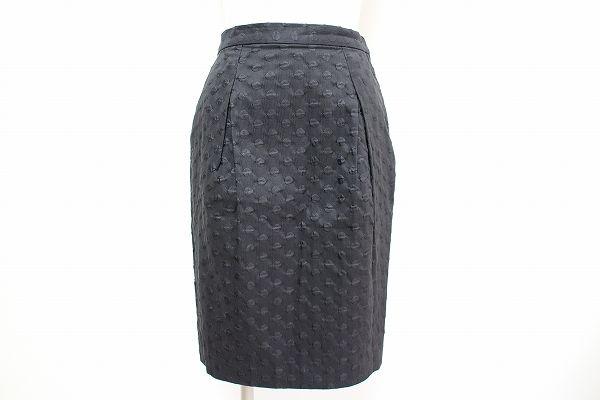 トゥモローランド シルク混ドットタイトスカート