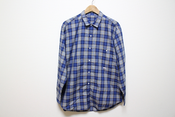 パパス 綿チェック長袖シャツ