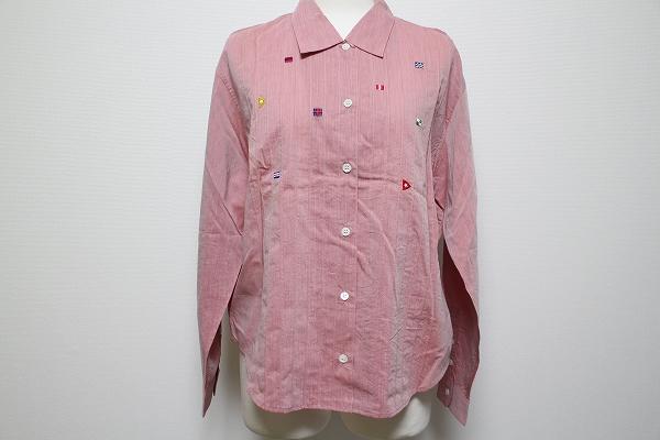 マドモアゼルノンノン 刺繍長袖シャツ