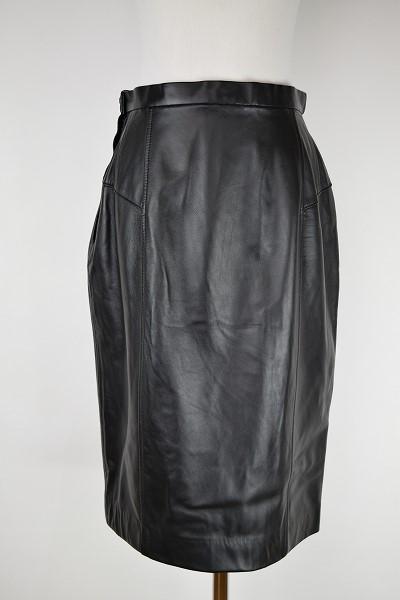 ジョルジュレッシュ ラムレザースカート