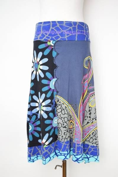 デジグアル スカート ブルー系柄