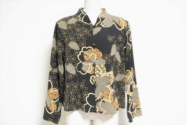 シセンドウ 長袖花柄ジャケット