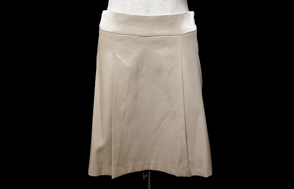 エムプルミエ 膝丈台形スカート