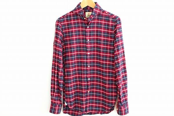 ギローバー チェック柄長袖シャツ