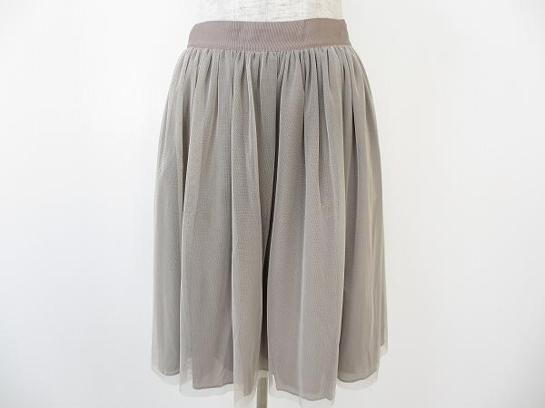 イエナ チュール膝丈スカート