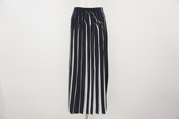 コテラック  プリーツストライプロングスカート