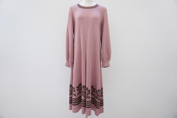 サイトウトヨコ 裾ひまわり柄ワンピース