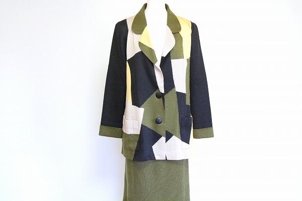 サイトウトヨコ スカート&柄ジャケットセットアップ