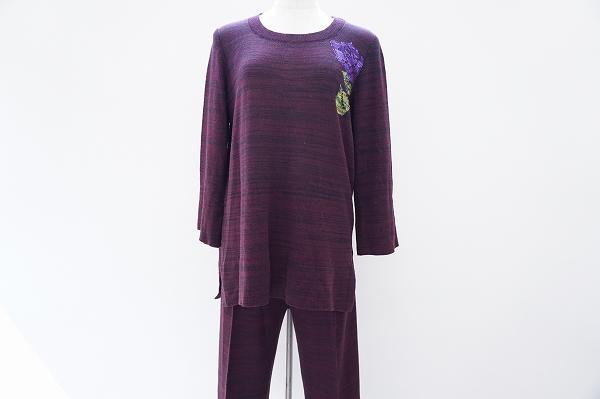 サイトウトヨコ 薔薇柄セーター&パンツツーピース