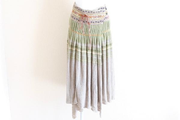 キャピタル 麻混巻きスカート