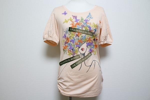 エポカ 蝶モチーフ半袖Tシャツ
