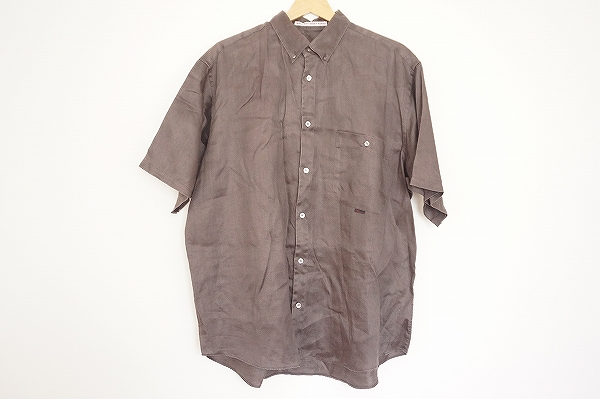 パパス 半袖リネンシャツ