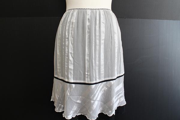 パオラフラーニ バイカラーウエストゴムシルクスカート