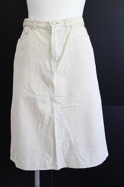 マックス&コー 水色ステッチコットンスカート