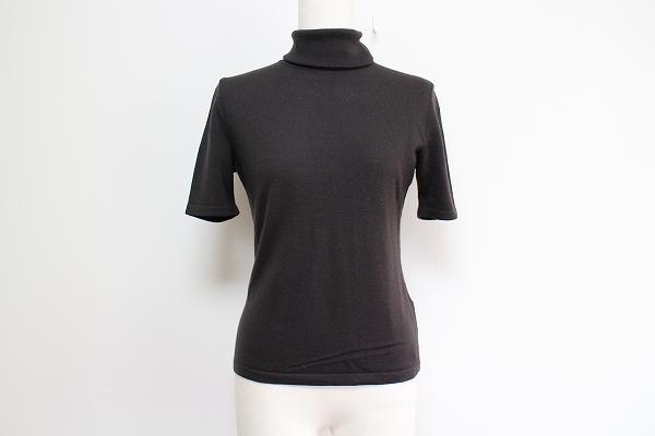 アンタイトル 半袖タートルニットセーター