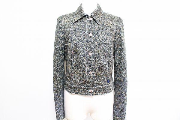 クリスチャンラクロワ 肩パッド付き柄ジャケット