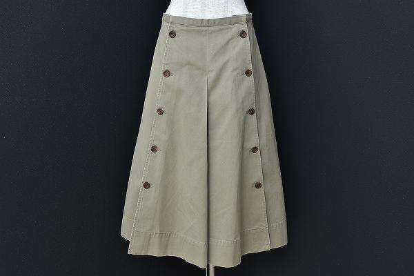 ラルフローレン ボタンフレアスカートパンツ