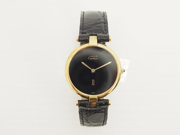 カルティエ マストヴァンドームレザーベルト腕時計