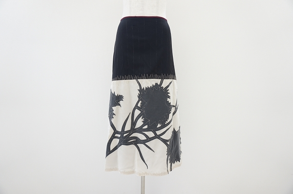 アントニオマラス 花柄切り替えスカート