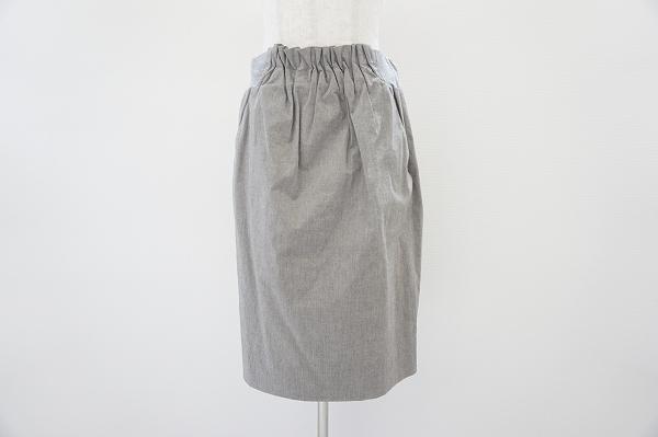 ファビアナフィリッピ ギャザー膝丈スカート
