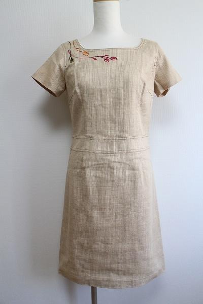 ミスクロエ 綿麻刺繍ワンピース