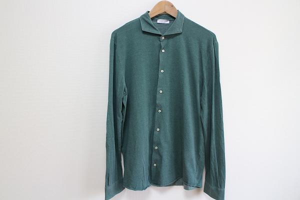 グランサッソ 襟付長袖シャツ