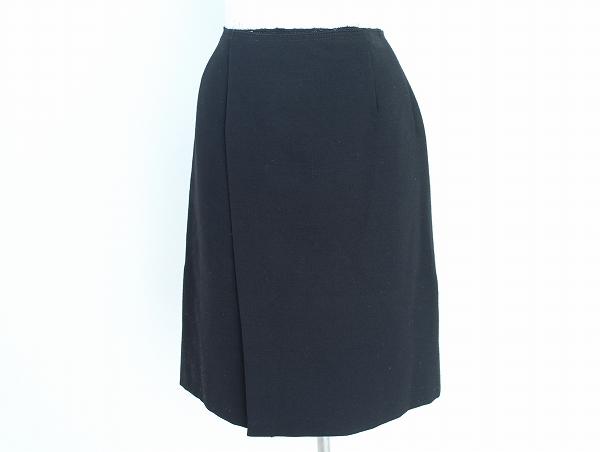 ミュウミュウ 膝丈ラップスカート