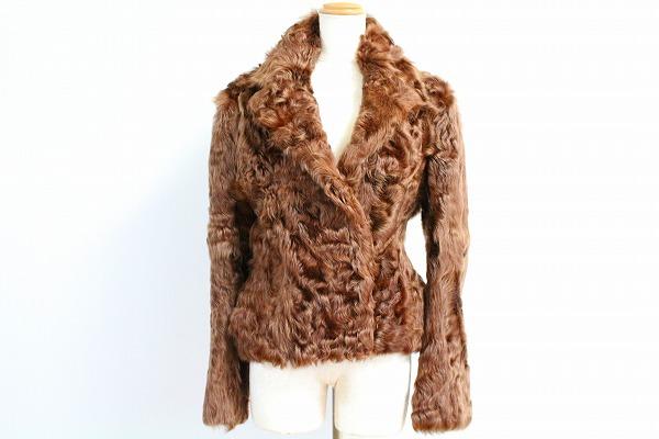 バーニーズニューヨーク 山羊革ファージャケット