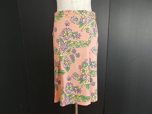 モスキーノ 花柄タイトスカート