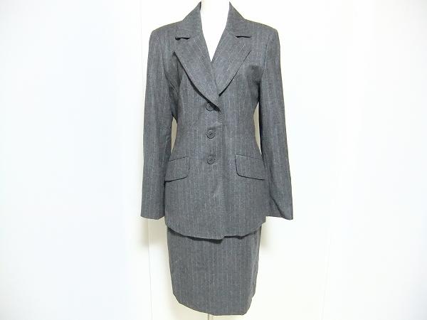 ルイフェロー ストライプスカートスーツ