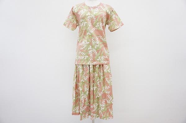 ピンクハウス Tシャツ&スカートすずらん柄セットアップ