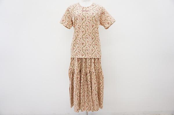 ピンクハウス Tシャツ&スカート小花柄セットアップ