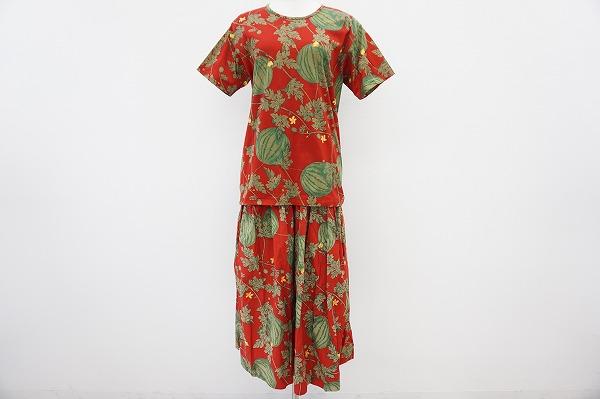 ピンクハウス Tシャツ&スカートスイカ柄セットアップ