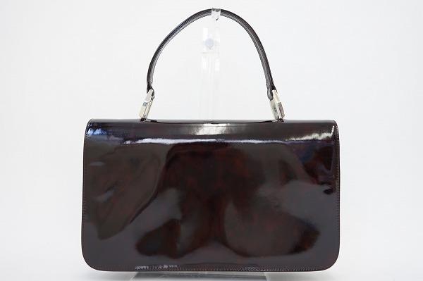 シャルルジョルダン パテントハンドバッグ