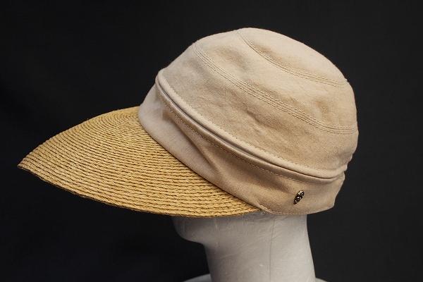 ヘレンカミンスキー ラフィアサンバイザー2WAY帽子