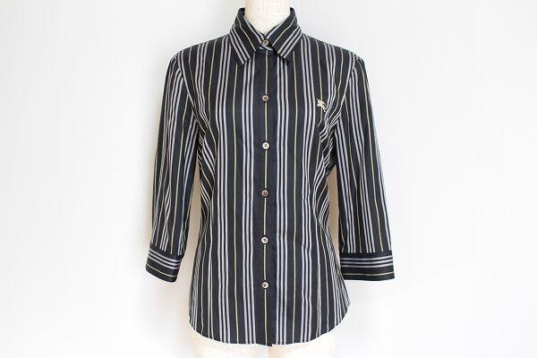 バーバリーロンドン ストライプ柄長袖シャツ